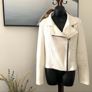 Express white zipper jacket NWT size Medium